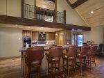 Gourmet Kitchen with Bar Seating