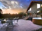 Great Outdoor Living with Firepit, Hot Tub and Seating