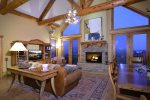 Great Room With Wood Burning Fireplace & Incredible Views
