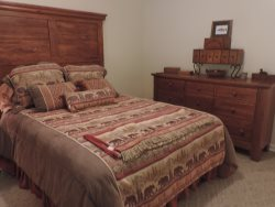 Queen Size Bed in Second Bedroom on the main floor