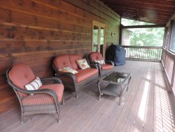 Screened in Back Deck off the Kitchen