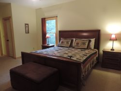 Master Bedroom is on the main Floor with a King Size Bed