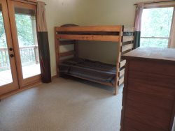 Single Bunk beds with dresser in the 3rd Bedroom. Upstairs.