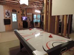 Air Hockey Table in the Game Room