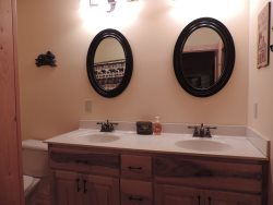 Full Private Master Bathroom with Double sinks