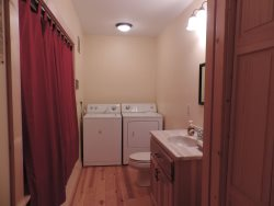 Half bathroom off the Living room with Washer  Dryer