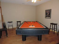 Pool Table downstairs in the game room.