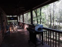 Back Deck.  BBQ Gas Grill