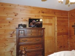 Dresser with Flat Screen TV in the Master Bedroom