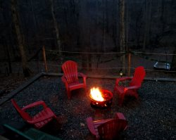 Fire Pit with Chairs.