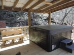 Living room with Wood Burning Fire Place, with River View