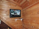 Flat Screen Tv in the Sleeping Loft