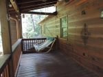 Upper Deck has a Porch Swing off the Loft