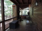 Back Deck off the Kitchen/Dining area