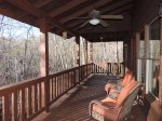 Back deck off the living room with BBQ Gas Grill and Chairs