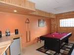 Pool Table Downstairs in the Game Room