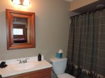 Lower Deck has a Gas BBQ Grill, swing and Rockers.