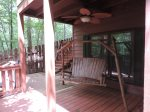 Porch Swing and Hot Tub on the bottom deck