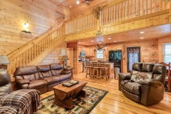 4 Bedroom 3 Full Bath Cabin with Fire Pit, Internet/WiFi & Gazebo. Located inside the Coosawattee River Resort in Ellijay Ga.