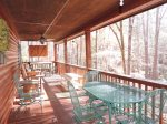 Flat Screen TV on the Outside Deck