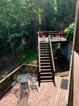 Large Deck off the living area with Gas BBQ Grill Table and Chairs. Long Range View
