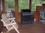BBQ grill in the screened in porch.