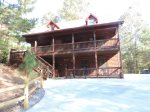 Bear Traxx is Hugh 3 Story Cabin on a Large Lot.