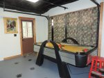 Hugh Game room with Pool Table, Air Hockey Table, Foosball Table and 50 Inch Flat Screen TV