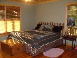 King Size Bed in Master Bedroom on the main floor