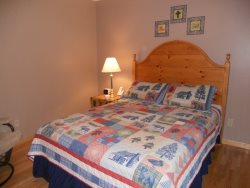 The 2nd bedroom is on the main floor with a Queen bed.
