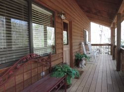 5 OClock is situated at the end of a semi private road in the Coosawattee River Resort.