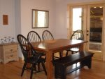 Dining table seats 9 guest with 2 counter bar stools