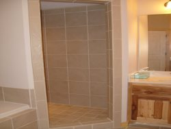 Walk In shower in the Master Bathroom