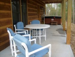 Table and Chairs on the Lower Back Deck