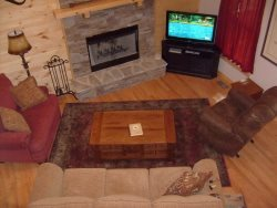 Living room had a Flat screen TV, Queen size sleeper sofa, recliner chair  over size chair