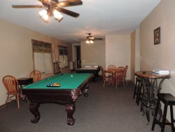 Lower Deck off the Game Room with Hot Tub, Fire Pit and Chairs
