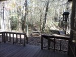 View of the Creek from the Back Deck