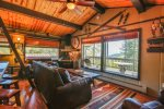 C1: Snuggle into leather couches, a fireplace, a loft and incredible views of the Roaring Fork Valley in this totally remodeled condo.