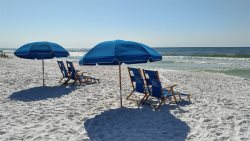 Oasis #504 Beach Service Included - 2 Chairs and Umbrella