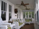 Enclosed Porch facing toward Crystal Lake