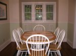 Dining Room, 6 chairs at teh table, with an additional four chairs for guests