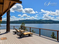 This private beach front home is the best choice for a waterfront vacation right on Coeur d`Alene Lake.