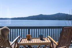 Large home with private dock, 3 decks and great swimming on Lake Coeur d`Alene