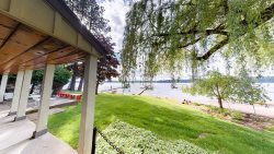 Willow Shores | Family lake house with grassy backyard