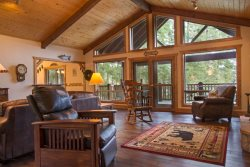 Huge waterfront home on Hayden Lake. Enjoy the lake, boating and fishing
