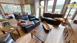 Wonderful waterfront cabin with a great beach, dock and all the fun of waterfront living.