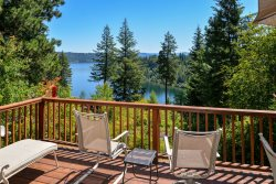 Lake Cabin with Views, Community Beach and Boat Slip!