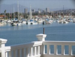 Enjoy the View of Newport Bay and Beach From Casa 225 Great Room, Master, and Patio Decks