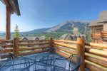 Gorgeous End unit - large living room with Lone Peak views and gas fireplace