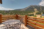 Breathtaking views of Lone Peak and ski slopes from the upper double deck